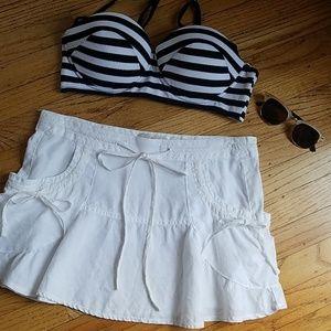 Guess White Linen Swim Skirt